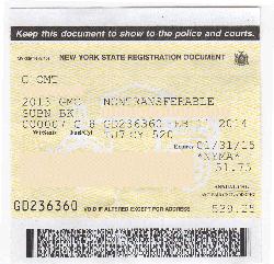 Ny Motor Vehicle Registration Ideas